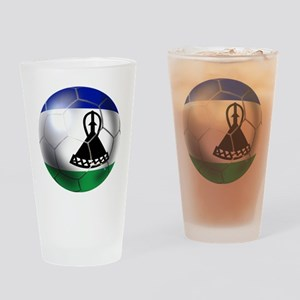 Lesotho Soccer Ball Drinking Glass
