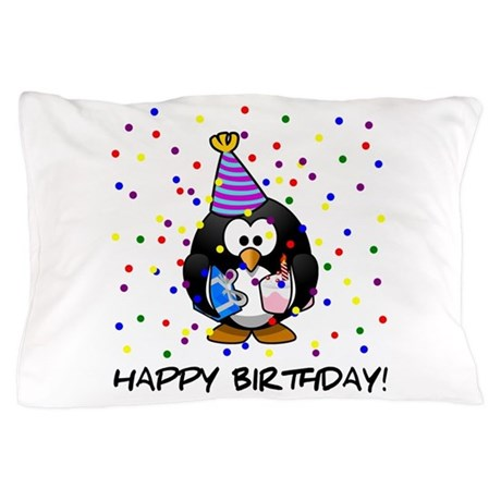 Happy Birthday Penguin Pillow Case By Admin Cp79877276