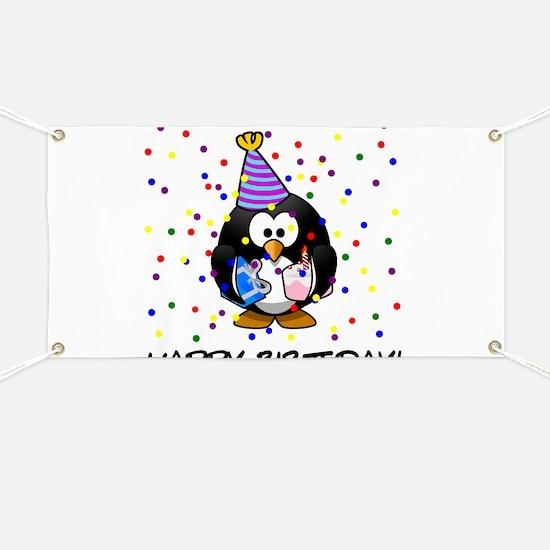 Happy Birthday Penguin Banner