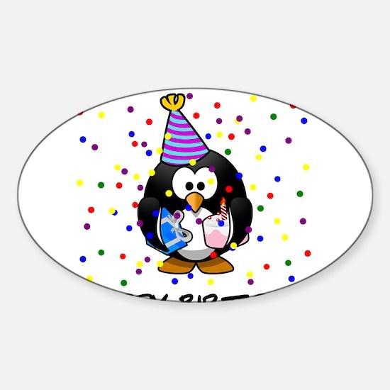 Happy Birthday Penguin Decal