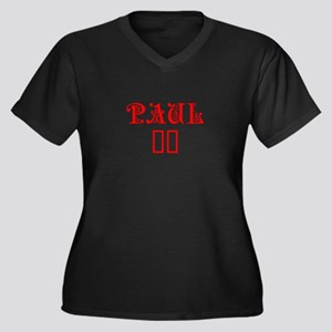 Paul 16-Pre red 4 Plus Size T-Shirt