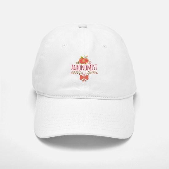 Cute Floral Occupation Agronomist Baseball Baseball Cap