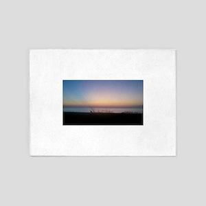 Delaware beach sunrise 5'x7'Area Rug