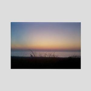 Delaware beach sunrise Magnets