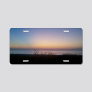 Delaware beach sunrise Aluminum License Plate