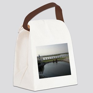 Chincoteague Channel View Canvas Lunch Bag