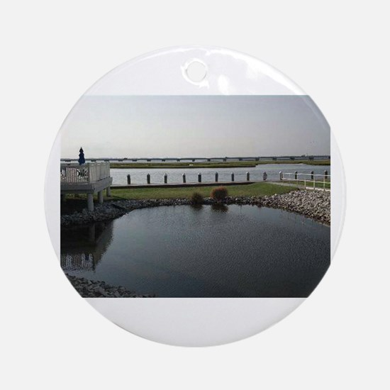 Chincoteague Channel View Ornament (Round)