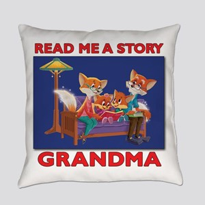 Read Me a Story Grandma Everyday Pillow