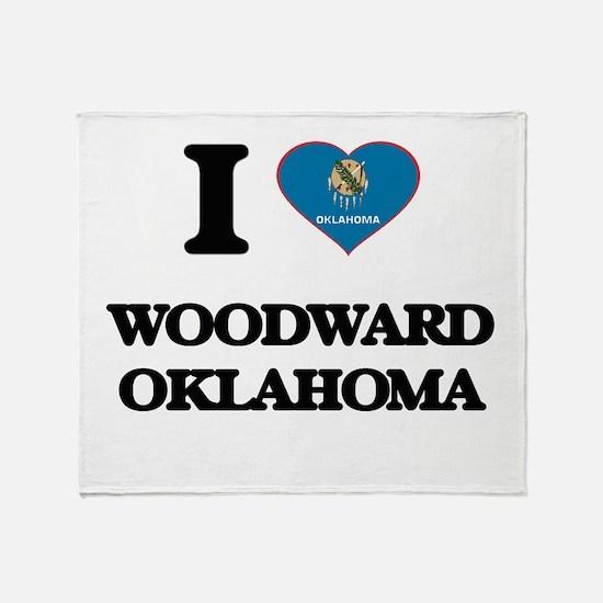 I love Woodward Oklahoma Throw Blanket