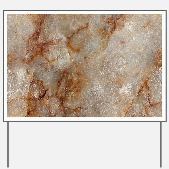 Realistic Brown Faux Marble Stone Patter Yard Sign