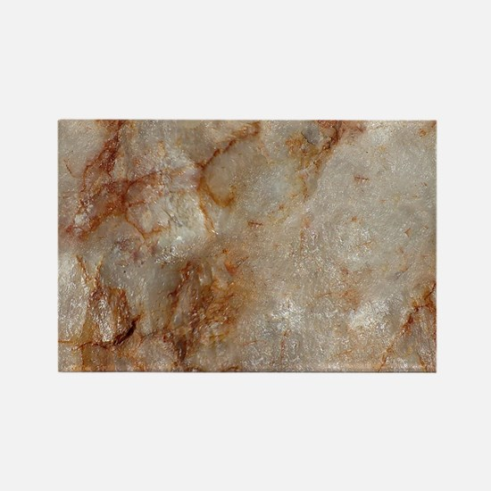 Realistic Brown Faux Marble Stone Pattern Magnets