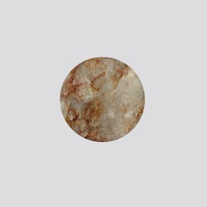 Realistic Brown Faux Marble Stone Patt Mini Button