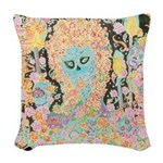 Muerta Lisa Woven Throw Pillow
