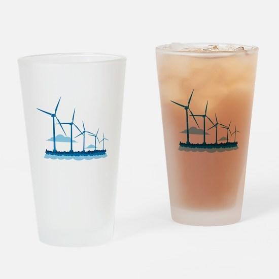 Offshore Wind Farm Drinking Glass