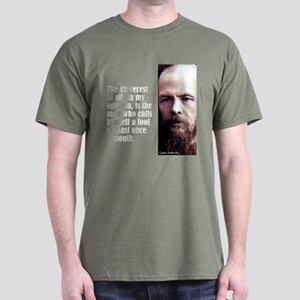 "Dostoevsky ""Cleverest"" Dark T-Shirt"