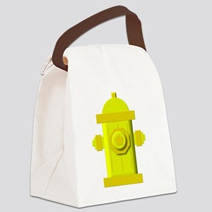 Yellow fire hydrant Canvas Lunch Bag