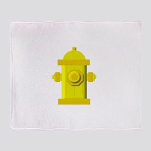 Yellow fire hydrant Throw Blanket