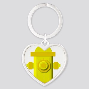 Yellow fire hydrant Keychains