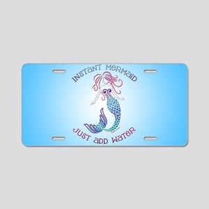 Instant Mermaid Aluminum License Plate