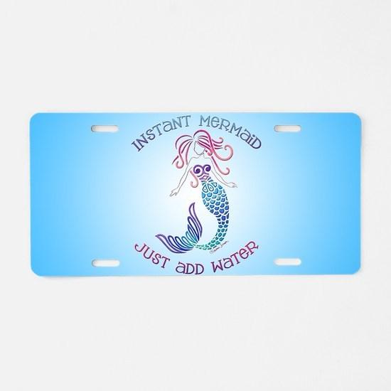 Instant Mermaid Aluminum License Plate