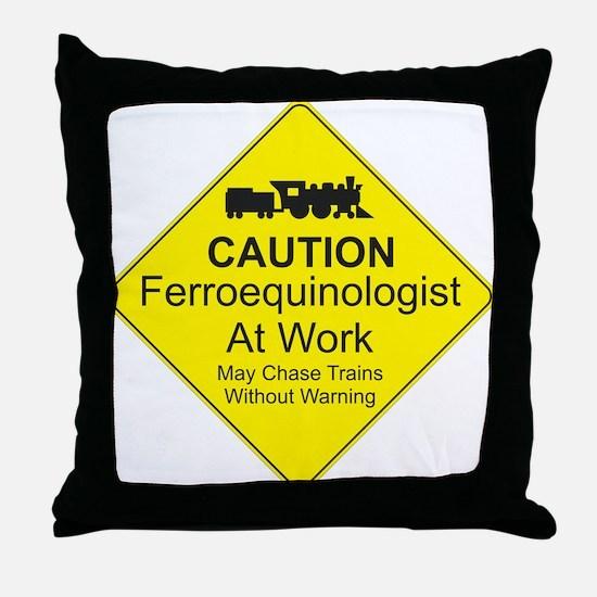 Ferroequinologist Warning Throw Pillow