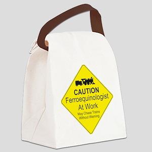 Ferroequinologist Warning Canvas Lunch Bag