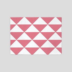 Bubblegum Pink Triangles 5'x7'Area Rug