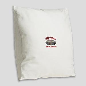 Satriale's Pork Store Burlap Throw Pillow