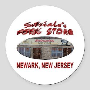 Satriale's Pork Store Round Car Magnet