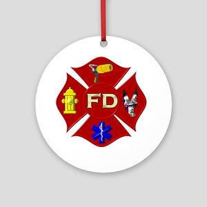 Fire department symbol Ornament (Round)