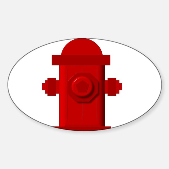 Red fire hydrant Decal