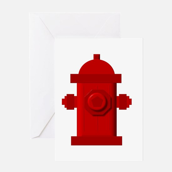 Red fire hydrant Greeting Cards
