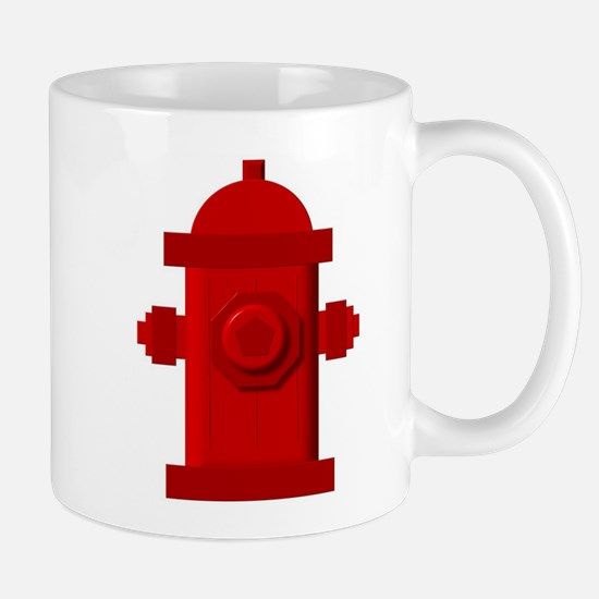 Red fire hydrant Mugs