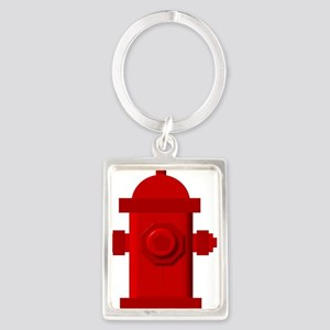Red fire hydrant Keychains