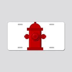 Red fire hydrant Aluminum License Plate