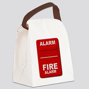 Alarm box red Canvas Lunch Bag
