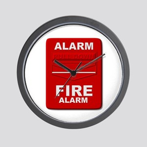 Alarm box red Wall Clock