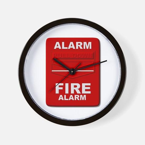 Alarm box red Wall Clock