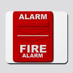 Alarm box red Mousepad