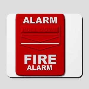 Alarm box red Mousepad