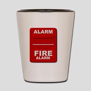 Alarm box red Shot Glass