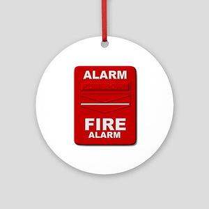 Alarm box red Ornament (Round)