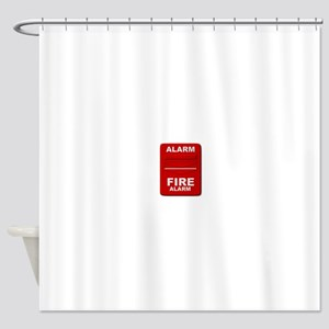 Alarm box red Shower Curtain