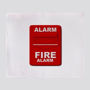 Alarm box red Throw Blanket