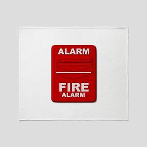 Alarm box red Throw Blanket