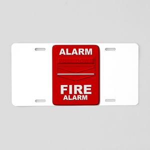 Alarm box red Aluminum License Plate