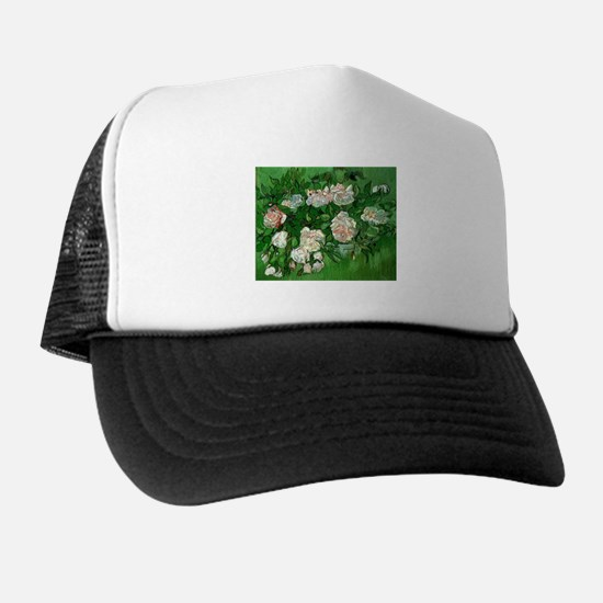 Pink Roses by Vincent van Gogh Trucker Hat