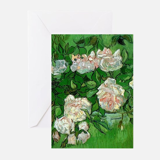 Pink Roses by Vincent van Gogh Greeting Cards