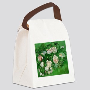 Pink Roses by Vincent van Gogh Canvas Lunch Bag