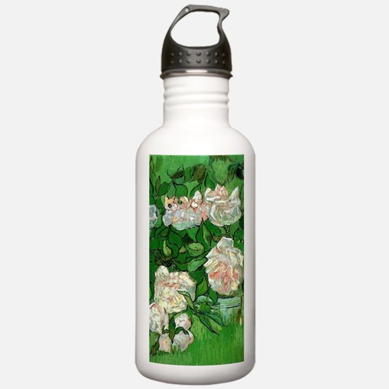 Pink Roses by Vincent Water Bottle